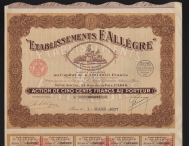 Etablissement F. ALLEGRE